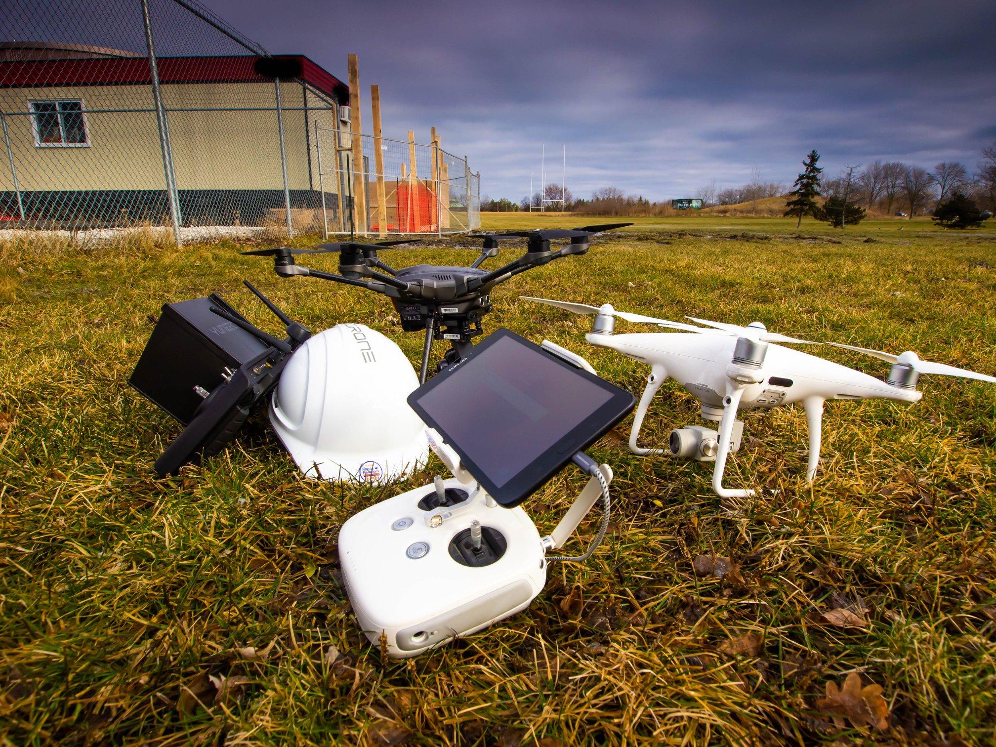 videodrone equipment on site